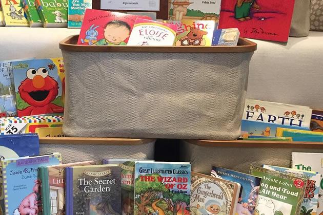 book drive bins