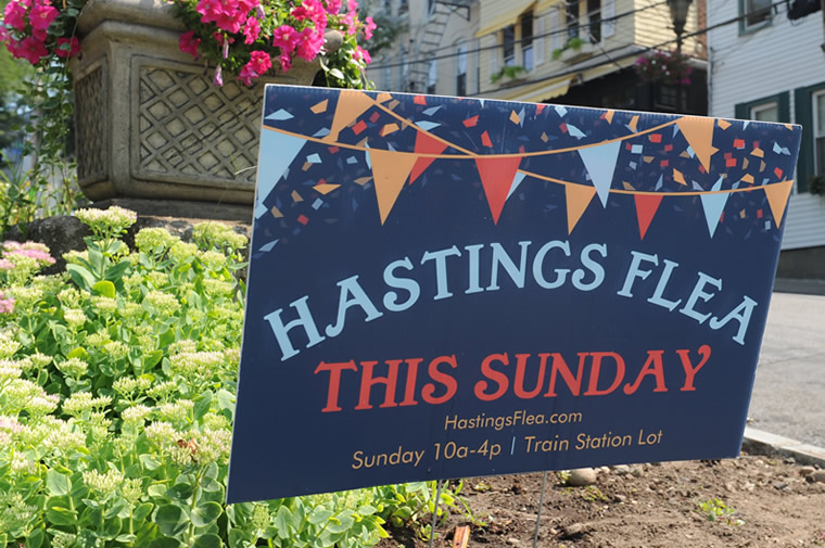 hastings flea market sign