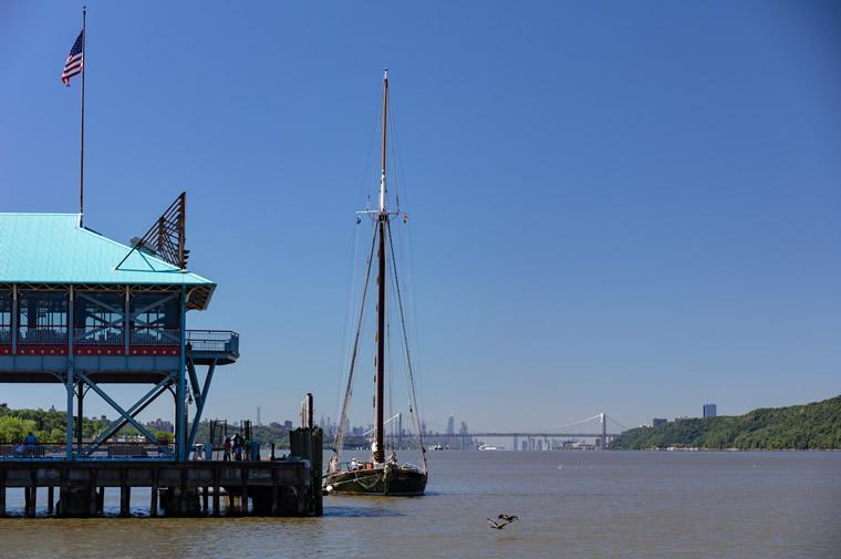 boat at pier on hudson