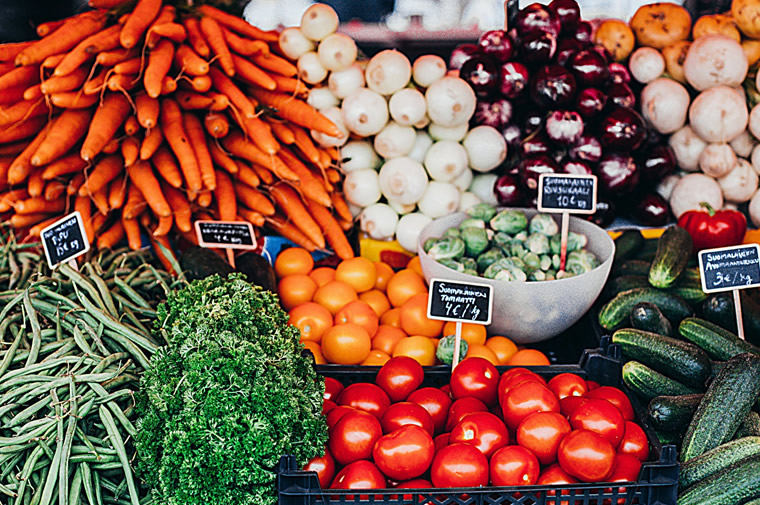 farmer's market vegetables