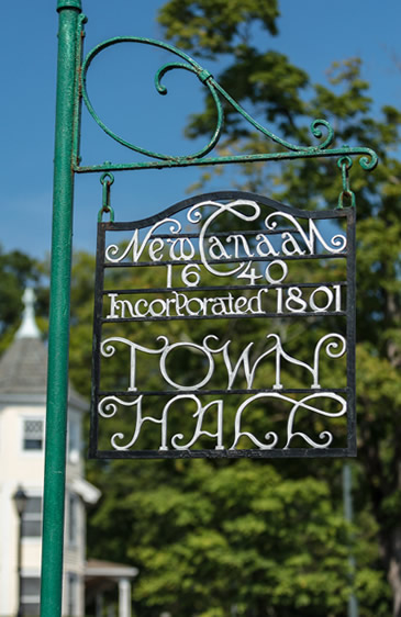 new canaan town hall sign