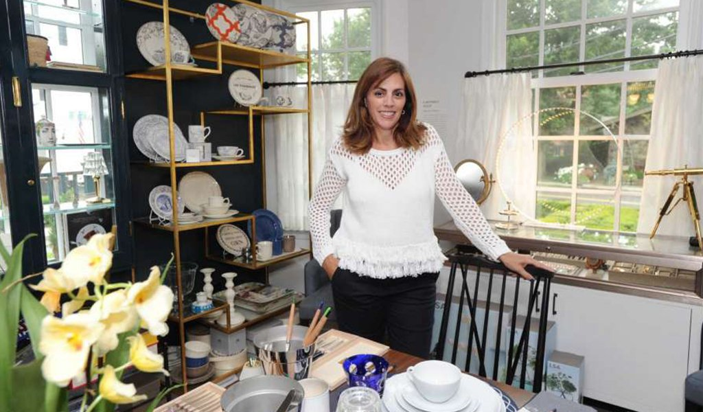 Lisa Lori inside her Greenwich boutique The Perfect Provenance